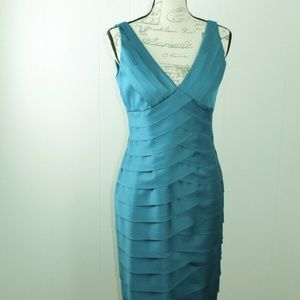 Jones Wear Party Cocktail Dress Teal Shade Size 6
